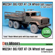 DEF.MODEL,DW35034,  M923A1 'BIG FOOT' Truck GD AT-2A Sagged Wheel set  , 1:35