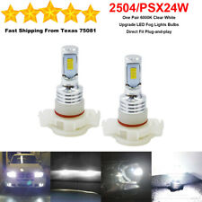 2504 PSX24W LED Fog Driving Light Bulbs Kit Super Bright Premium 35W 6000K White
