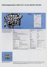 MERCEDES 2635 S (6x4) autoarticolati macchina foglio dati dati tecnici 1988 CAMION