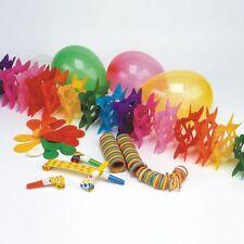 """Party Deko Set """"Party"""" 27-teilig Luftschlange Girlande Luftballons Luftrüssel"""