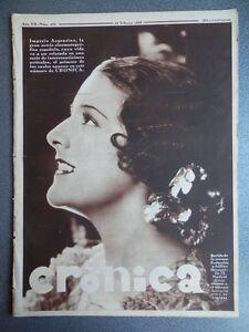 REVISTA CRONICA 24/02/1935 NOTICIAS REPÚBLICA FUTBOL DONOSTIA (REPÚBLICA) SANTAN