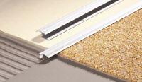 100cm CARPET TO TILE WOOD LAMINATE METAL Z DOOR BAR TRIM THRESHOLD GOLD & SILVER