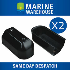 Gunwale End Caps X2 - Suits 40mm (43mm) Gunnel Rubber - Black Plastic 104684B2