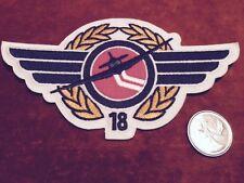 Windsor Spitfires 18th Squad Jets Hockey Stitch Hat Shoulder Crest Patch 3 x 5.5