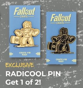 """FALLOUT PERK PIN """"Rad!"""" Crate #18 LootCrate Loot Gaming Exclusive Collectible"""