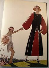 Art deco vintage fashion imprimé paul poiret robe design illus andré marty 1922