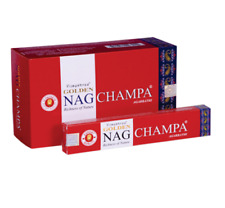 VIJAYSHREE GOLDEN NAG CHAMPA AGARBATHI INCENSE STICKS PACK OF 12-293012