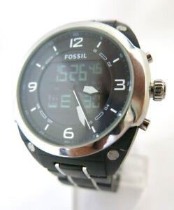 FOSSIL  BQ-9381  Quartz Watch  Analog & Digital  Alarm Day/Date