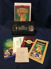 Walt Disney Masterpiece Collection Movie VHS Home Video Bambi #9505