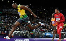 "028 Usain Bolt - 100 m Running Jamaica Game Champion Olympic 38""x24"" Poster"