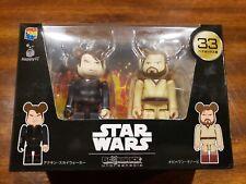 Happy Lottery Star Wars Bearbrick Pair Box 33 Anakin Obi One Kenobi USA Seller