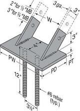 "SIMPSON STRONG TIE GLB7.12D 7-1/4"" GIRDER GLULAM BEAM SEAT SUPPORT ANCHOR MOUNT"