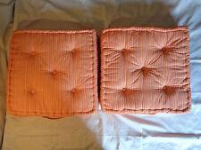2x Matratzenkissen Bodenkissen orange weiß gelb lila Streifen 50x50x10 cm NEU