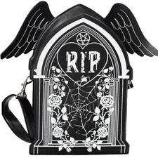 Banned RIP Winged Tombstone Gravestone Gothic Spooky Sleepwalker Backpack Bag
