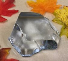 Crystal Art Glass Ice Rock Boulder PAPERWEIGHT