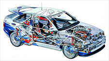 Ford Escort RS Cosworth Rally Cutout Over 1 Meter Wide 1 Piece XXL Glossy Poster