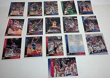 A set of 16 Upper Deck Basketball 1993-94 Season
