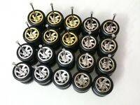 (NEW) HOT WHEELS REAL RIDERS RUBBER WHEELS TURBINE RIM 10MM 10 SETS 3 COLOUR