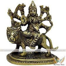 HINDU WORSHIP GODDESS DURGA MAA SITTING ON LION IDOL HOME SPIRITUAL GIFT DECOR