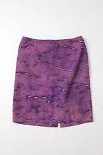 Prada silk pencil skirt purple print wiggle skirt size 44 US 8