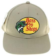 f3236f5c44305 Bass Pro Shops Mens Ball Cap Twill Hat Snapback Adjustable Tan NWT Fishing