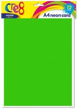 A4 Pastal Cards 4 Assorted Multi Colours 200gsm 12 Sheets Art /& Craft P2005