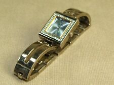 Guess Brushed Stainless Steel & Rhinestone Square Face Ladies Watch Preowned