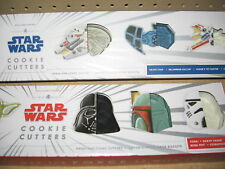 Star Wars Cookie Cutters Heros and Vehicles by Williams Sonoma BUNDLE NEW!