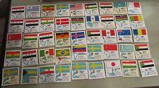 Collezione 45 card regalo formaggini Starcrem e star magro bandiere del Mondo
