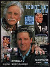 THE SECRET__Original 1993 Trade print AD / promo__KIRK DOUGLAS__Bruce Boxleitner