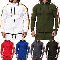 Mens Pullover Hoodie Hooded Sweatshirt Top Plain Hoody Jumper Jacket Coat Jogger