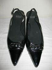 STUART WEITZMAN  Leather Black Pointy Toe Sling Back Shoes Size 8 M