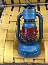 Antique Old Dietz Lantern N.Y. USA Red Globe Dept. of Sanitation City of Chicago