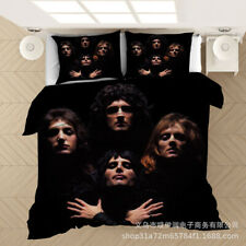 Queen Freddie Mercury Bedding Set  Duvet Cover Pillowcase Fans Quilt Cover 3PCS