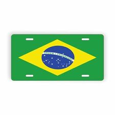 "Brazil Flag Licence Plate 6"" x 12"" Aluminum Plate"
