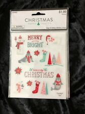 Christmas Paper Crafts Merry And Bright And Christmas Stickers