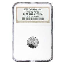 1993 1/10 oz $30 Canada Proof Platinum Arctic Fox NGC PF 69 UCAM