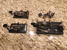 LOT of 4 Vintage Morse Code Keys !!