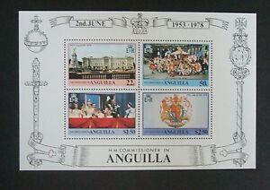 Anguilla 1978 25th Ann Coronation MS Miniature Sheet MNH UM unmounted mint