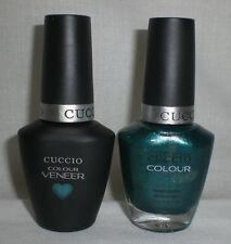 Cuccio Colour Veneer LED Gel Polish + Matching Nail Lacquer Dublin Emerald Isle