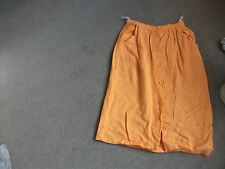 LADIES LINEN SKIRT-26 INCH WAIST-BY WALLIS-LINEN-TANGERINE COLOUR-EXC COND-LUVLY