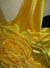"""1 M YELLOW  GOLD  SATIN FABRIC 58""""  WIDE"""