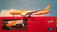 "1:500 Herpa Wings 531627 SCOOT Boeing 787-8 Dreamliner 9v-ofg ""Kama scootra"""