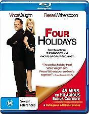 FOUR HOLIDAYS BLU RAY - NEW & SEALED VINCE VAUGHN, REECE WITHERSPOON COMEDY