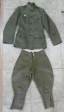 WWI Uniform Tunic Jacket, leggings, & Pants Wool with Patches Green ww1