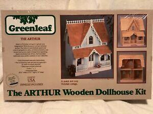 Vintage 1981 Greenleaf The ARTHUR Wooden Dollhouse Kit #8012 Cottage. Sealed MIB