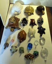 Turtle figurines 20 lot Lenox quartz wood porcelain Terps Maryland turtles