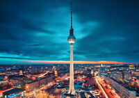 """BERLIN GERMANY NEW A4 CANVAS GICLEE ART PRINT POSTER 11.7"""" x 8.3"""""""