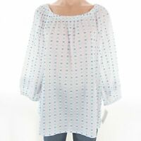 Charter Club Women's Top XL Off The Shoulder Cotton Blouse