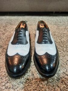 Allen Edmonds Broadstreet Black and White Wingtip Spectator Oxfords - Size 11D